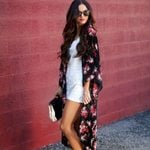 Cardigan  Blouse Chiffon Shawl Kimono