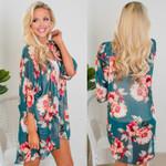 Cardigan Chiffon Half Sleeve  V-Neck Plant Loose Kimono