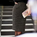 Metal flash fabric Tweed Skirt
