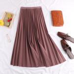 Casual High Waist Elegant A Line Pleated Long Skirt