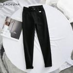 Casual High Waist Slim Fashion Washing Bleached Jeans