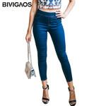 Ankle Pencil Slim Elastic Cotton Basic Skinny Jeans