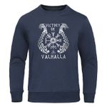 Casual Pullover Fleece Warm Viking legend Sweatshirt