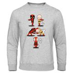 Warm Funny  Printed Casual Anime Sweatshirt