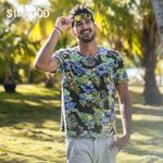 casual floral Breathable cotton Hawaii print t shirt