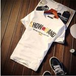 Fashion Round Collar  Creative Fun Letter Printing Loose T-shirt