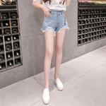 Sexy High Waist Ripped Hole Denim Shorts