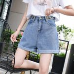 Casual Pocket High Waist  Fashion Denim Shorts