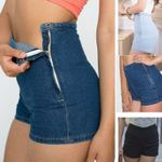 Tight A Side Button Fashion Sexy Slim High Waist Denim shorts