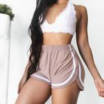 Casual Stripe Fitness Slim Elastic Shorts