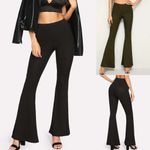high waist trousers Elastic Casual Trousers Loose Pant