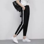 Loose Trousers Striped Side  fashion Harem Pants