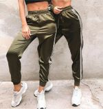 Elegant Fitness Fashion High Waist Striped Track Pants