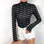 Fashion Sexy Slim Fit Stretch Long Sleeve Bodysuit