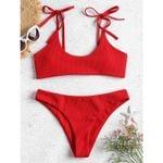 String Breathable Push Up Double Fabric Bikinis