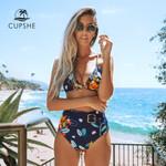 Sexy Belt Two Pieces  Floral Print Bikini