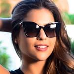 Retro Cat eye Fashion Square Star Sunglasses
