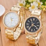 Luxury Stainless Steel Rhinestone Watches