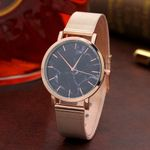 Marble Surface Stainless Steel Band Fashion Watch