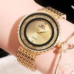 Luxury Crystal  Quartz Stainless Steel  Wrist Watches