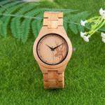 Deer Strap Quartz Ladies Couple Bamboo Wooden Watch