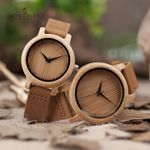 Lover Handmade Natural Bamboo Wood Watch