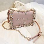 Quilted Chain Leather Shoulder handbag