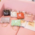 Transparent Bucket Jelly Small Shoulder  Luxury Handbag