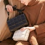 Padded Cassette Genuine Leather Weaving Luxury Handbags