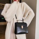 Casual Flap Leather Shoulder Vintage Crocodile Pattern Handbags