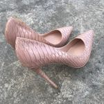 pointed shallow stiletto high snake high heel