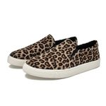 Round Toe Slip On Loafers Leopard Lazy Flat Shoes