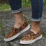 Fashion Shallow Slip on Leopard  Flat Shoes
