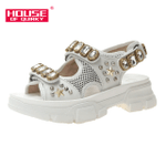 fashion diamond beads Hollow out open-toed sandals