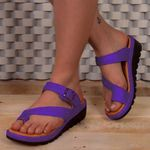 Belt Buckle Platform slippers Clip Toe Thick Bottomed Sandal