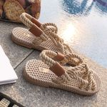 Braided Rope Traditional Casual Style Simple Fashion Sandals