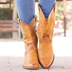 Low Heels Classic Embroidered Leather Cowgirl Boots