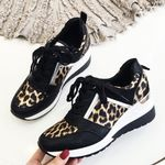 Platform Thick Sole Sports Fashion Leopard Sneakers