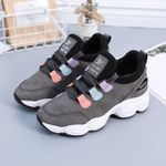 Leather Lace Up Casual Fashion Breathable Vulcanized Sneakers