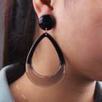 Resin Water Drop Geometric Jewelry Acrylic Earrings