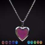 Mood Necklaces Peach Heart Love Pendant Necklace