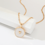 Fashion Long Simple Stars Moon Heart Round Pendant Necklace