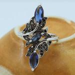 Hollow Crystal Big Wedding Jewelry  Vintage Rhinestone Branch Rings