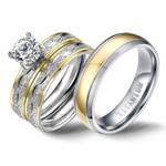 Titanium Promise Godly Jewels Couple Cubic Ring