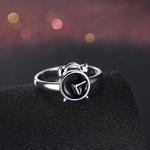 Jewelry Fashion Creative Silver Alarm Clock Rings