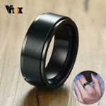 Stainless Steel Casual Stylish Punk  Rotatable Basic Ring
