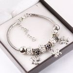 beads Four-leaf clover butterfly pendant snake chain Bangles
