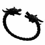Viking Dragon Punk Gothic Charm Open Cuff Jewelry Bangle