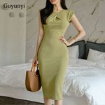 Sleeveless High Waist Slim Comfortable Elegant  Office Dress