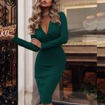 Wrap Ruched Long Sleeve Robe Fantastic Sweater Dress